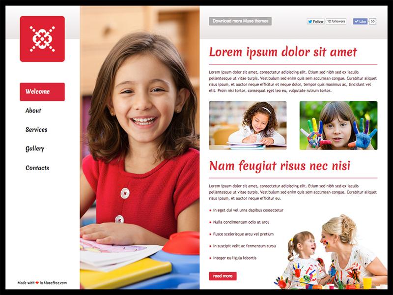 Adobe Muse Website Template
