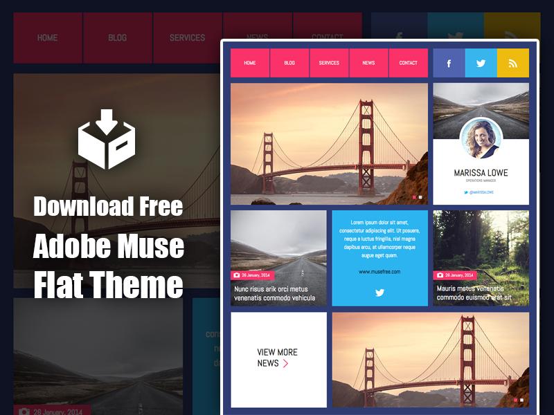 Download Adobe Muse Flat Theme
