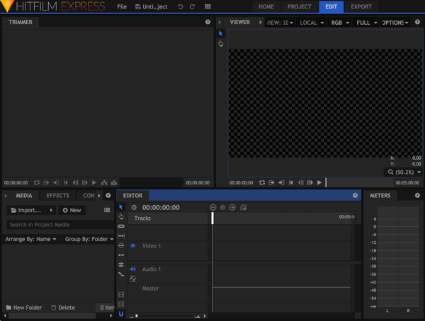 The HitFilm 4 Express editing window can look a little intimidating at first.