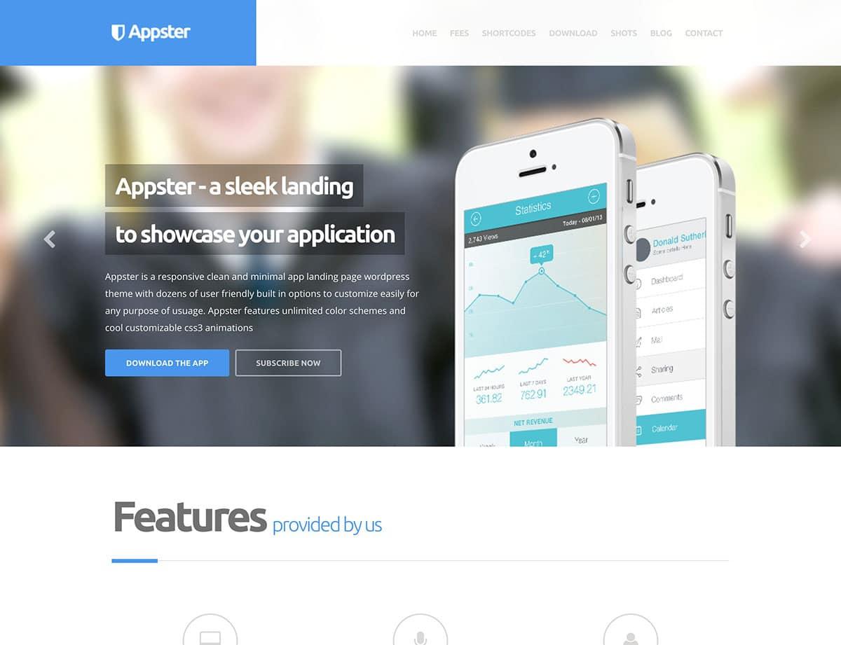 appster-приложение-десантно-страница тема