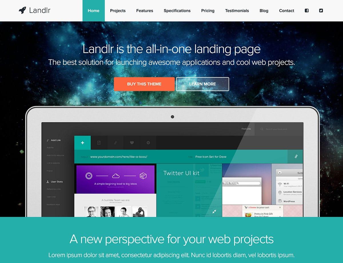 landlr-десантно-страниц WordPress-тема