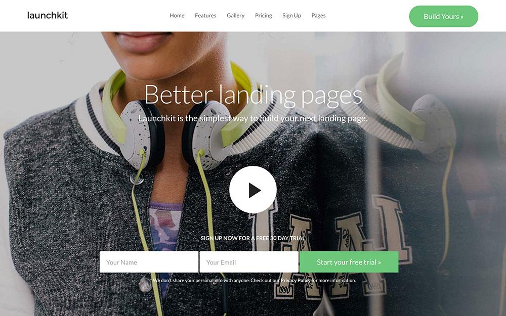launchkit-десантно-страниц WordPress-тема