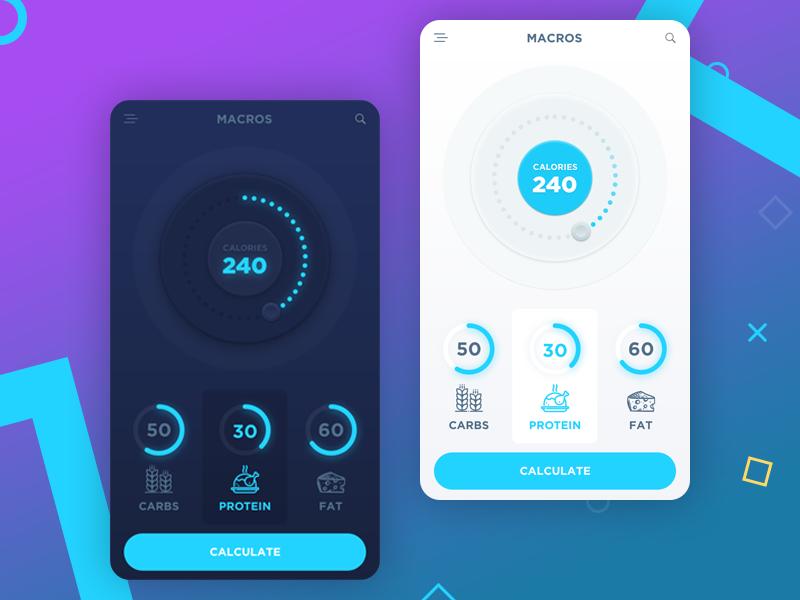 Дизайн приложения для мобильного питания