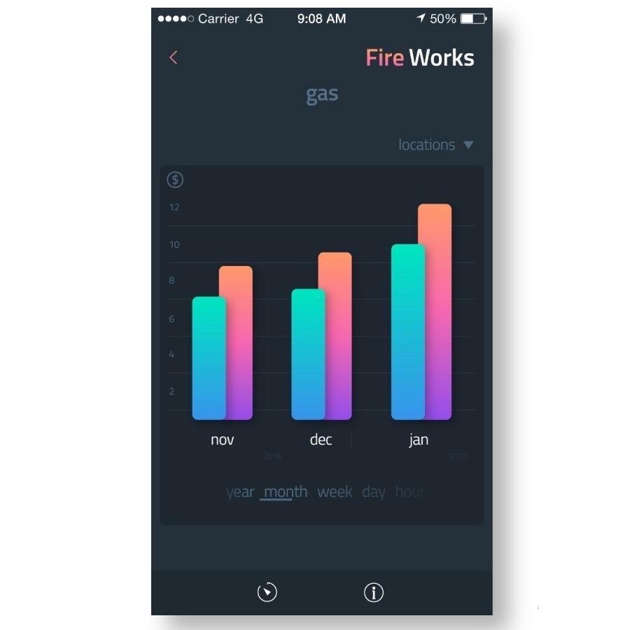 Экран приложения для Fire Works