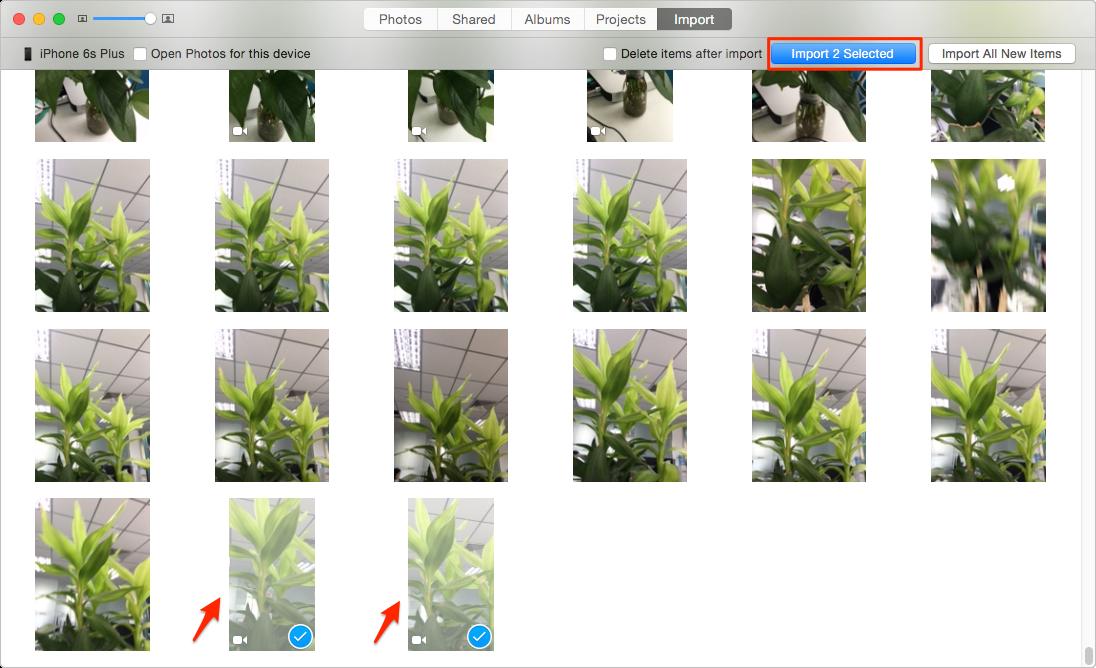 Импорт видео с iPhone 6 / 6s на компьютер с фотографиями