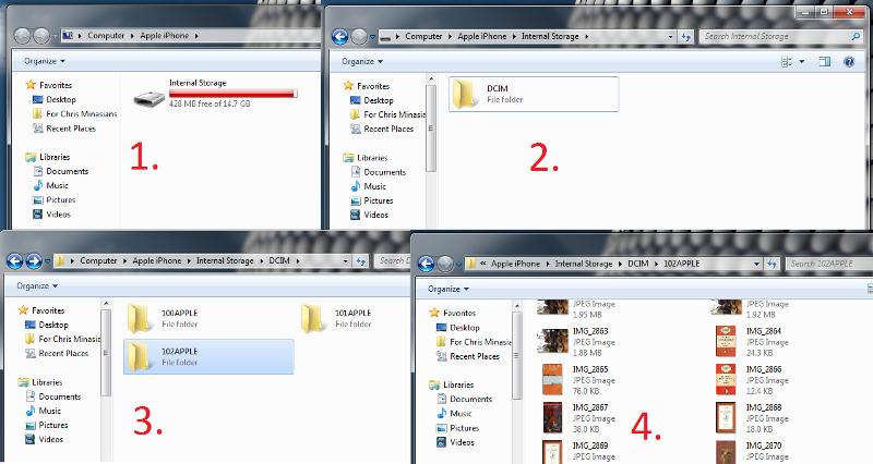 Как импортировать фотографии с iPhone 5s / 6s / 7/8 / X на ПК с помощью проводника Windows