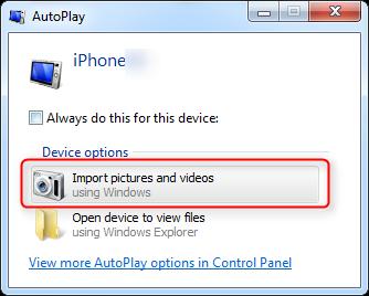 Как копировать фото с камеры с iPhone на компьютер с Windows 7