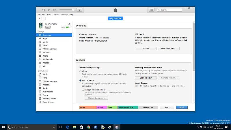 Как подключить iPhone к ПК с Windows 10: iTunes Windows 10