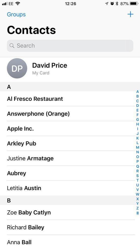 Перенос контактов с помощью iCloud