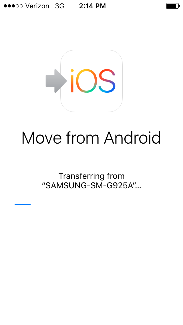 Transferring from Android