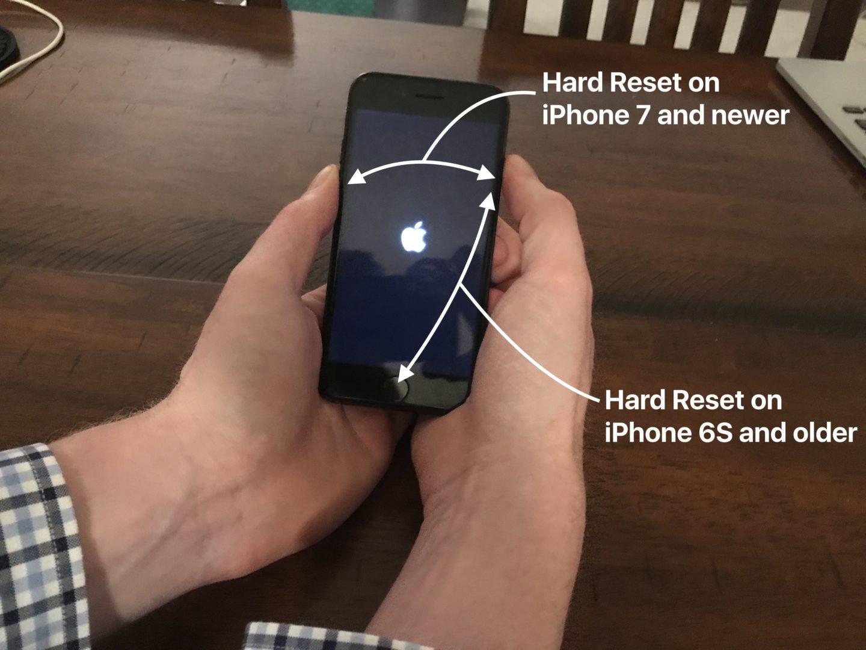 Жесткий сброс iPhone