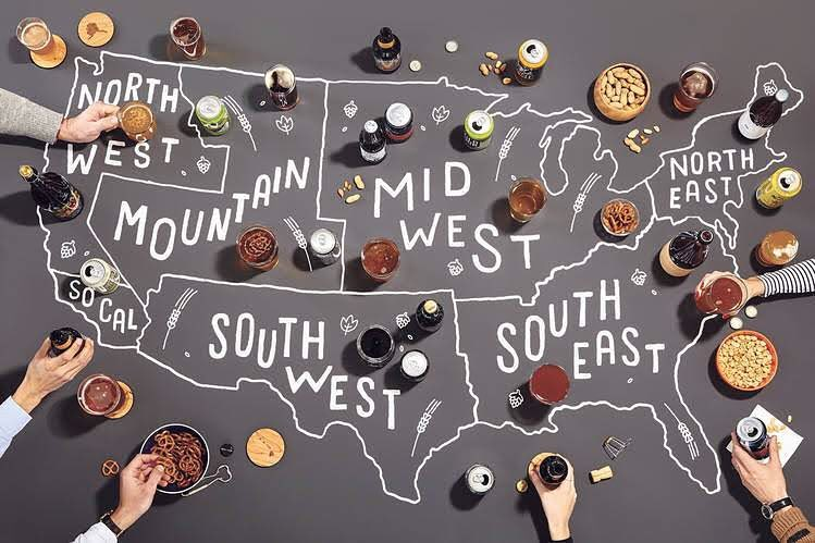 Beer map I drew for @wsjoffduty Thank you @ufoundforest for the gig! Photo by @fmrphoto