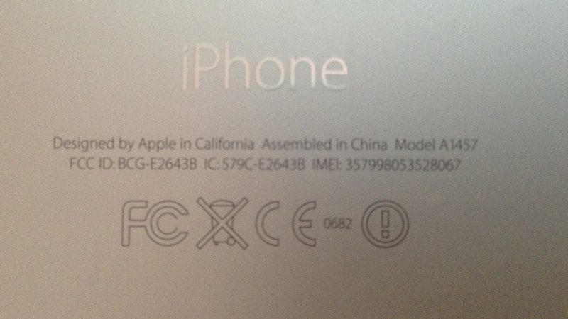 How to find your iPhone's IMEI number by looking on back of iPhone
