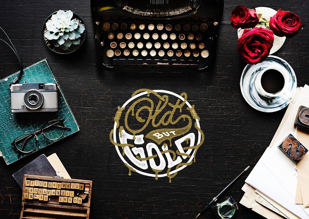 Old but Gold  . . . Background image by rawpixel.com via @unsplash . . . . #handlettering #misterdoodle #project #quote #gold #ligaturecollective #typegang #goodtype #handmadefont #typedrawn #designspiration #kaligrafina #belmenid