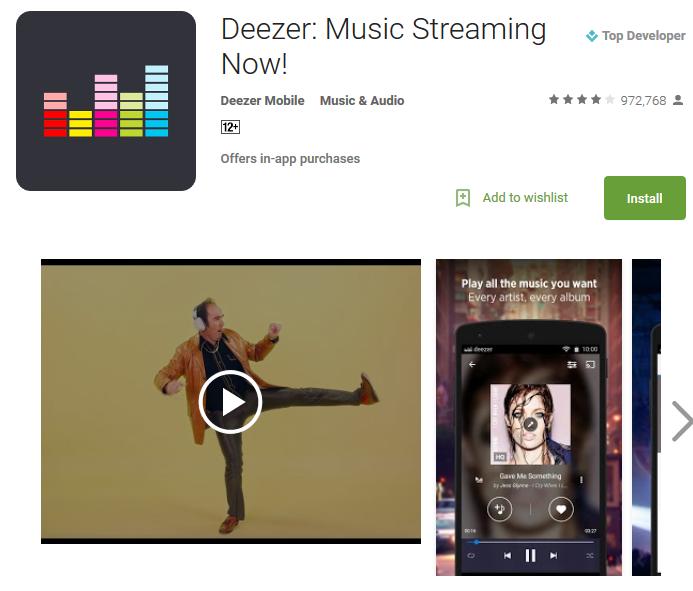 Deezer Музыкальный плеер онлайн