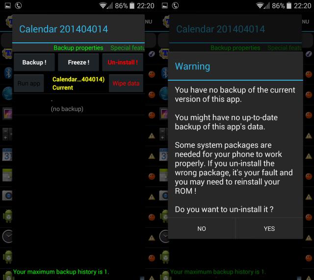 Ий-андроид-REMOVE-приложения-титан