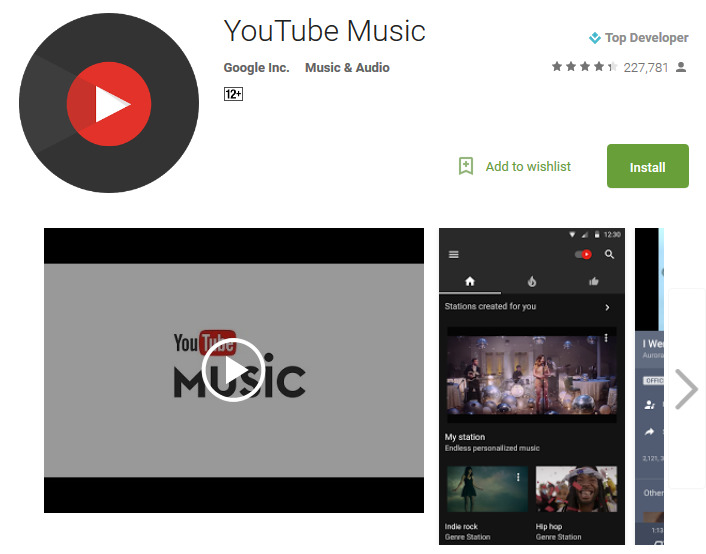 Музыка YouTube