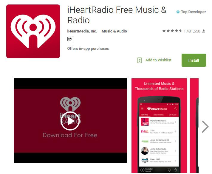 Музыкальное радио iHeartRadio