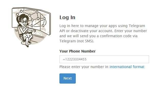 Deactivate-page-telegram