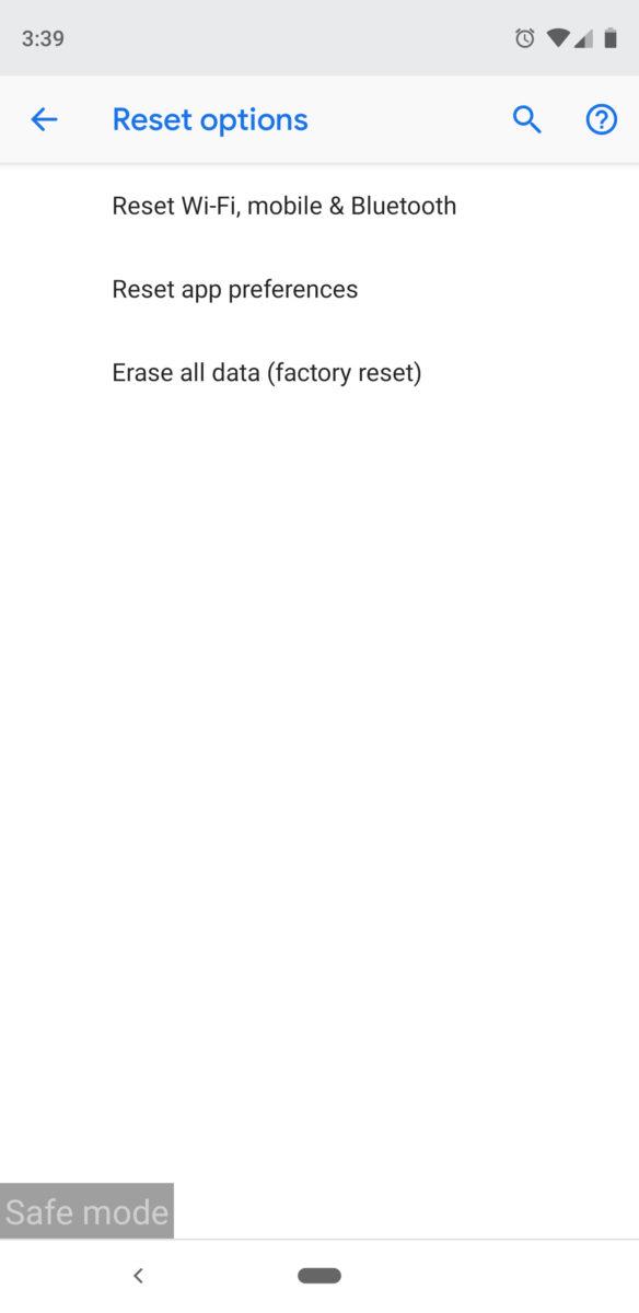Как сбросить заводские настройки Android устройства 2
